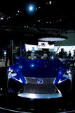 Lexus Concept Car in Blue. Lexus Concept Coupe super car on display Royalty Free Stock Image