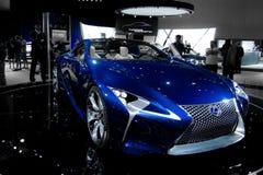 Lexus Concept Car dans le bleu Photos libres de droits