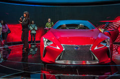 Lexus Concept LF-LC. Photo Taken at Chicago Auto Show in 2012 stock image