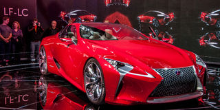 Lexus Concept LF-LC. Photo Taken at Chicago Auto Show in 2012 royalty free stock image