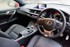 Lexus CT200h F-Sport interior on May 20 2014 in Hong Kong. Stock Photography