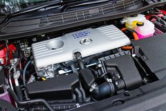 Lexus CT 200h Hybrid Car 2014 engine Royalty Free Stock Photography