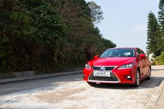 Lexus CT 200h Hybrid Car 2014 right side angle Royalty Free Stock Photography