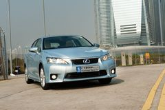 Lexus CT200h Hybrid Hatchback Royalty Free Stock Images