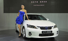 Lexus CT200h and model Royalty Free Stock Photo
