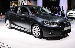 Lexus CT200h at Paris Motor Show Royalty Free Stock Photos