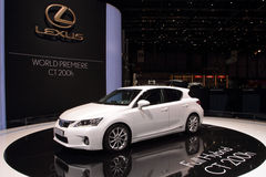 Lexus CT200h Premiere - 2010 Geneva Motor Show Royalty Free Stock Photos