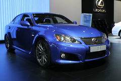 Lexus IS F. At the Moscow International Automobile Salon (MIAS-2010) August 25 - September 5 stock photos