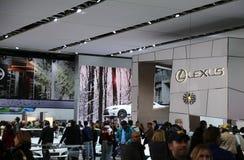 Lexus-Fahrzeuganzeige an der Automobilausstellung Stockbilder