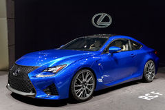 Lexus at the 2014 Geneva Motorshow. The new Lexus RCF at the 2014 Geneva Motorshow Royalty Free Stock Images