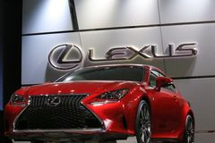 Lexus GS F displayed at the auto show Royalty Free Stock Photo