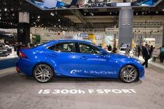 Lexus IS 300h F-Sport Stock Afbeelding