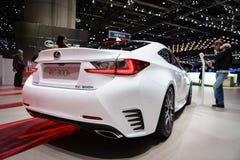 Lexus RC 300h, Motor Show Geneve 2015. Stock Photos