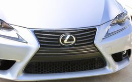 Lexus Hood and Grill. Lexus is the luxury vehicle division of Japanese car maker Toyota Stock Images