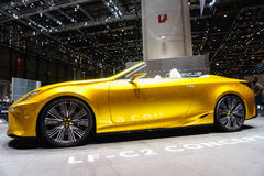 The Lexus LF-C2 Concept, Motor Show Geneve 2015. The Lexus LF-C2 Concept Convertible, Motor Show Geneve 2015. Lexus Hides Attention-Seeking LF-C2 Concept Behind Stock Photography