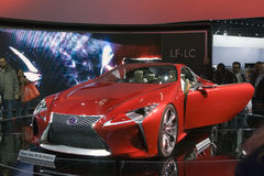 The Lexus LF-LC. CHICAGO - FEB 12: The Lexus LF-LC on display at the 2012 Chicago Royalty Free Stock Photos