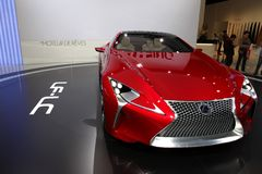 Lexus LF-LC. The Lexus LF-LC Concept displayed at the 2012 Paris Motor Show on September 30, 2012 in Paris Royalty Free Stock Photo