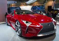 Lexus LF-LC. TORONTO-FEBRUARY 15: Exhibition of the Lexus LF-LC  during  the Canadian International Auto Show 2013. The show is arriving to 40 years this 2013 Stock Image