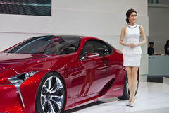 Lexus LF-LC Concept. BANGKOK, THAILAND - DECEMBER 4: Lexus LF-LC Concept, in Bangkok, Thailand on December, 2012. Unidentified female presenter introduce Lexus Royalty Free Stock Images