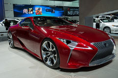 Lexus LF-LC display at the LA Auto Show. Stock Images
