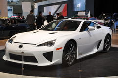 Lexus LFA. TORONTO - FEBRUARY 24: The All New Lexus LFA debuted at the 2011 Canadian International Auto Show on February 24, 2011 in Toronto, Ontario in Canada Stock Images