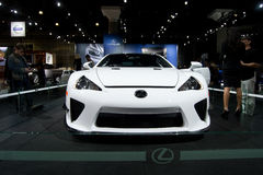 Lexus LFA Concept. Super car on display Stock Images