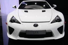 Lexus LFA Sports at Paris Motor Show Stock Images