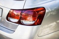 Lexus ls back light. Metal white Stock Photography