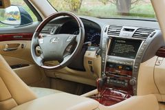 Lexus LS460 2008 interior Stock Images