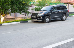 Lexus LX 570 parked on the street Royalty Free Stock Photo