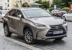 Lexus NX parkujący na ulicach Budapest Fotografia Stock