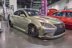 Lexus IS 250 op vertoning Stock Afbeelding