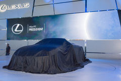 Lexus  press conference to debut car on display Royalty Free Stock Photography