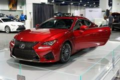 Lexus 2015 RC-F en el salón del automóvil de Las Vegas Imagen de archivo libre de regalías