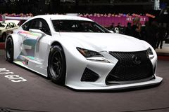 2014 Lexus RC F GT3 Concept on the Geneva Auto Salon Stock Photos