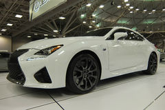 Lexus RC F. MINNEAPOLIS - MARCH 8:  2015 Lexus RC F at the Twin Cities Auto Show on March 8, 2015, in Minneapolis Royalty Free Stock Photography