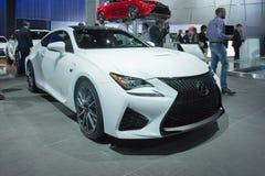 Lexus rc-F op vertoning Royalty-vrije Stock Afbeelding