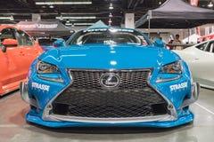 Lexus RC F op vertoning Royalty-vrije Stock Foto