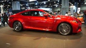 Lexus RC F Sports Car stock footage