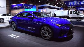 Lexus RC F Sports Coupe sports car stock video