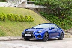 Lexus RC F 2014 test drive Stock Photo