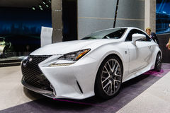 Lexus RC 300h, Motor Show Geneve 2015. Royalty Free Stock Photos