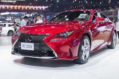 Lexus RC 200t Couper showed in Thailand the 37th Bangkok International Motor Show Stock Image