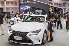 Lexus RC200t samochód przy Tajlandia zawody międzynarodowi silnika expo 2016 Obrazy Royalty Free