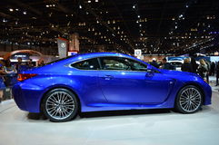 Lexus RCF car on display at the Chicago Auto Show Royalty Free Stock Photos