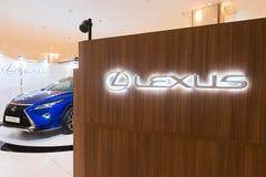 Lexus sala wystawowa w pawilonu centrum handlowym, Kuala Lumpur Zdjęcie Stock
