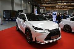 Lexus samochód wystawiający przy 3rd wydaniem MOTO przedstawienie w Krakowskim Polska zdjęcie stock