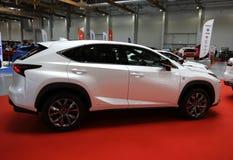 Lexus samochód wystawiający przy 3rd wydaniem MOTO przedstawienie w Krakowskim Polska zdjęcie royalty free