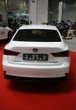 Lexus samochód wystawiający przy 3rd wydaniem MOTO przedstawienie w Krakowskim Polska obraz royalty free