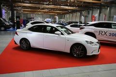 Lexus samochód wystawiający przy 3rd wydaniem MOTO przedstawienie w Krakowskim Polska fotografia stock